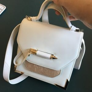 Mackage White Keeley Smooth Leather Crossbody Bag